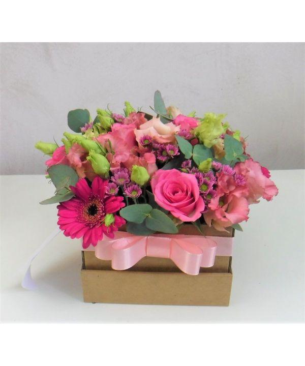 Růžová romantická krabička