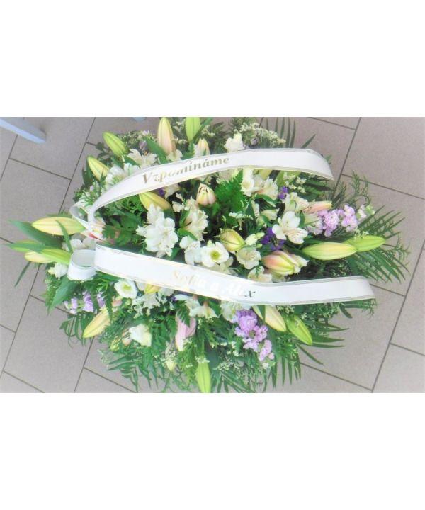 Smuteční kytice mix květin